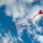 Flying heart - shaped kyte by Reinvention