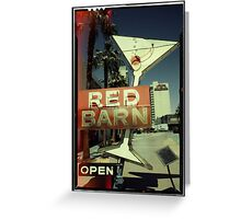 Las Vegas Neon Sign in Kodachrome Greeting Card