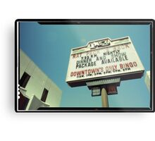 Las Vegas Neon Sign in Kodachrome Metal Print