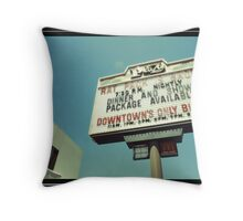 Las Vegas Neon Sign in Kodachrome Throw Pillow