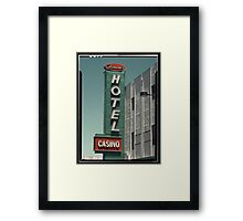 Las Vegas Hotel Neon Sign in Kodachrome Framed Print