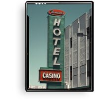 Las Vegas Hotel Neon Sign in Kodachrome Canvas Print