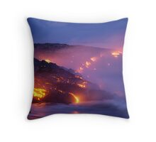 Lava Flow at Kilauea Throw Pillow
