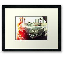 American vintage car in Kodachrome Framed Print