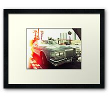 American vintage car in Kodachrome Framed Print