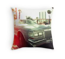 American vintage car in Kodachrome Throw Pillow