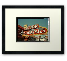 Las Vegas Neon Sign in Kodachrome Framed Print