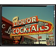 Las Vegas Neon Sign in Kodachrome Photographic Print