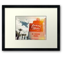 Las Vegas Motel Neon Sign in Kodachrome  Framed Print