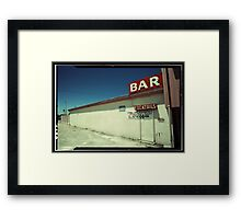Las Vegas Bar Neon Sign in Kodachrome Framed Print