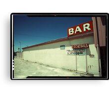 Las Vegas Bar Neon Sign in Kodachrome Canvas Print