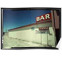 Las Vegas Bar Neon Sign in Kodachrome Poster