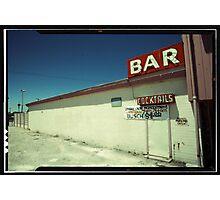 Las Vegas Bar Neon Sign in Kodachrome Photographic Print