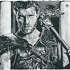 Liam J McIntyre As Spartacus Sketch by chrisjh2210