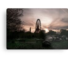 Abandoned fun fair, amusement park in East Berlin Metal Print