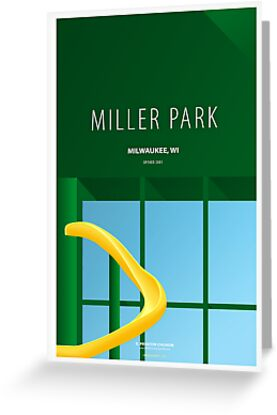 Minimalist Miller Park - Milwaukee by pootpoot