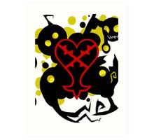 Heartless White(Kingdom Of Hearts) Art Print