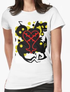 Heartless White(Kingdom Of Hearts) Womens Fitted T-Shirt