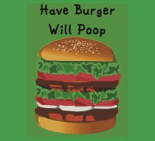 Turn a Burger Into Poop Kids Clothes
