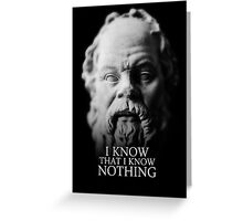 I know that I know nothing - Socrates Greeting Card