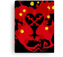 Heartless Red (Kingdom Of Hearts) Canvas Print