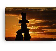 Inukshuk Sunset Canvas Print