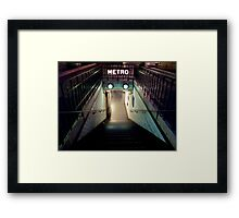 Paris Metro Entrance at night Framed Print