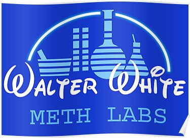 Walter White Meth Labs (Disney) - T-Shirt & Poster by LukeSimms