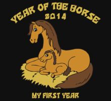Born Year of The Horse 2014 Kids Tee