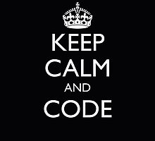 KEEP CALM AND CODE (iPhone cover) by fayafshar