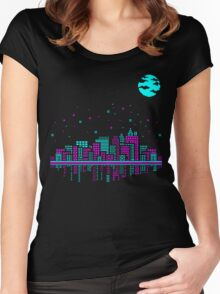 Pixelated Dreams Women's Fitted Scoop T-Shirt