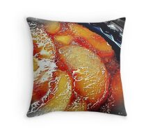 Peach Burst Throw Pillow