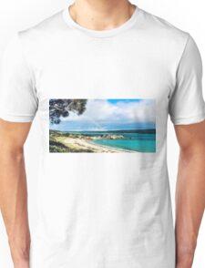 Rainbow on Beach Unisex T-Shirt