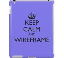KEEP CALM AND WIREFRAME (iPad cover) iPad Case/Skin