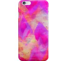 BOLD QUOTATION, Revisited - Intense Raspberry Peachy Pink Vibrant Abstract Watercolor Ikat Pattern iPhone Case/Skin