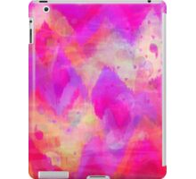 BOLD QUOTATION, Revisited - Intense Raspberry Peachy Pink Vibrant Abstract Watercolor Ikat Pattern iPad Case/Skin