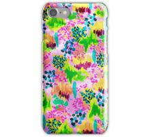 LAGOON LOVE- bright vibrant Waterscape Floral Elements Abstract Acrylic Painting iPhone Case/Skin