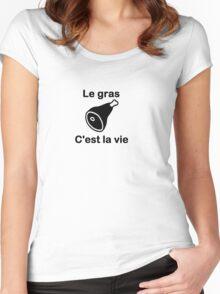 Kaamelott- Le gras Women's Fitted Scoop T-Shirt