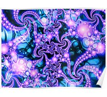Falling Within  (cool) - Psychedelic Fractal Abstract Poster
