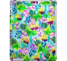 LAGOON LOVE 2 - Bright Blue Green Colorful Abstract Acrylic Waterscape Floral Pattern Nature Theme  iPad Case/Skin