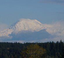 Snow capped Mt. Rainier by Rainydayphotos