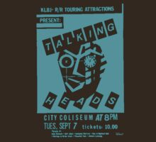 Talking Heads Gig Flyer Tee (Blue print) by Jarrod Knight
