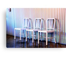 chairs.. Canvas Print