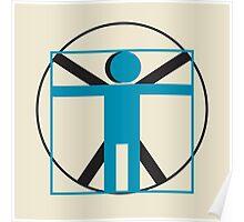 vitruvian man simplified    Poster