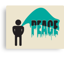 piss on peace Canvas Print