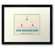 Puppetry organizational chart Framed Print