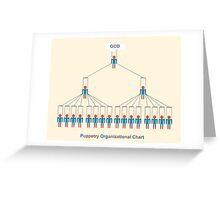 Puppetry organizational chart Greeting Card