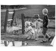 Three Kids Three Kars Poster