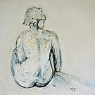 seated nude by Rachael Comisari