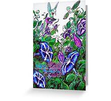 hummingbird jungle Greeting Card